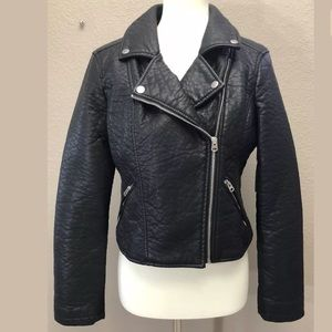 Belle Sky Crossover Faux Leather Jacket